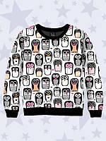 Детский Свитшот/Толстовка  Прикольные пингвины с принтом известного персонажа, для мальчиков и девочек.