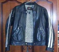Мужская стильная куртка кожаная RAID размер S -M