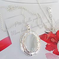 Кулон с цепочкой покрытие  серебро 925