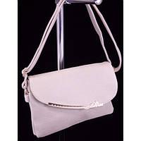 Стильная женская сумка M-015 Светло Серый КЛАТЧ