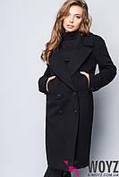 Пальто свободного кроя черное демисезонное FX-1423