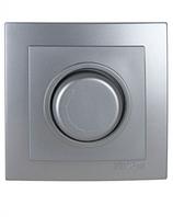 Диммер 1000W с подсветкой (Touran- серебрянный) /Nilson