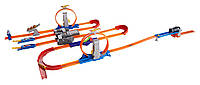 Трек хот вилс Двойное ускорение Hot Wheels Track Builder Total Turbo Takeover Track Set,