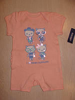 Песочник для новорожденных девочек розового цвета на возраст 0-3 мес Old Navy