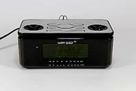 Часы с радиоприемником Happy Sheep YJ 8118, электронные настольные часы с зеленой подсветкой