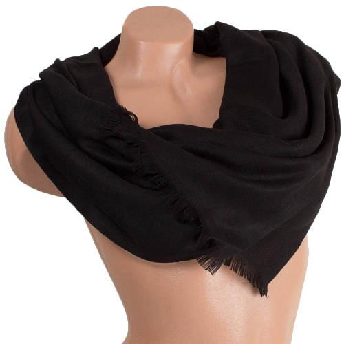Стильный женский шерстяной палантин 162 на 70 см Zambak (Замбак) SAT11201 черный