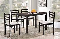 Комплект Фиеста: стол + 4 стула венге