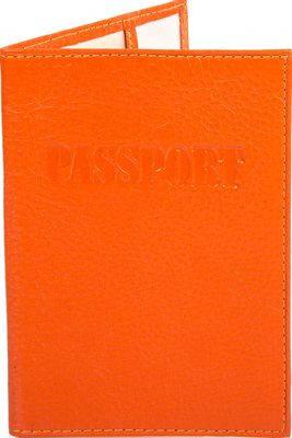 Сочная женская кожаная обложка для паспорта CANPELLINI (КАНПЕЛЛИНИ) SHI002-302 оранжевый