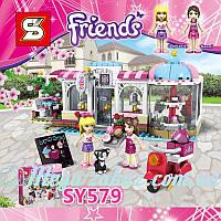 "Конструктор Friends ""Кондитерская"": 474 деталей, 2 фигурки (аналог Lego Friend)"