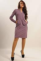 Женское платье трикотажное прямого силуэта