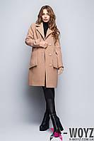Пальто свободного кроя беж демисезонное FX-1412