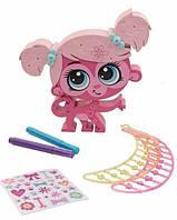 Игровой набор Littlest Pet Shop - Укрась зверушку Розовая обезьянка