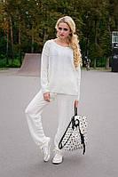 Теплый женский свитер Лало Modus молоко 44-48 размеры
