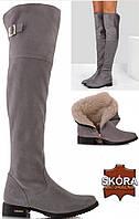 Женские сапоги зимние кожаные