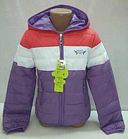 Куртка демисезонная для девочек 6-9 лет