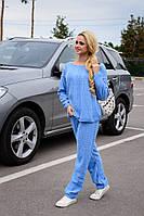 Теплый женский голубой свитер Лало Modus  44-48 размеры