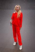 Теплый женский красный свитер Лало Modus  44-48 размеры