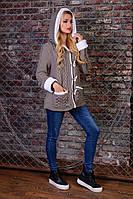 Теплая женская кофта Надя Modus капучино  44-48 размеры