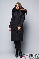 Зимняя удлиненная куртка черная LS-8707