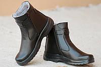 Ботинки полусапожки высокие носок черные зимние мужские полушерсть Львов 2016