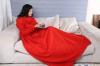 Флисовый плед с рукавами Красный 200*150 см