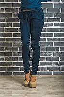 Стильные замшевые брюки индиго, фото 1