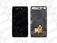 Дисплей для Motorola XT910 Droid RAZR/ XT912 Razr Maxx + touchscreen, чёрный, с передней панелью