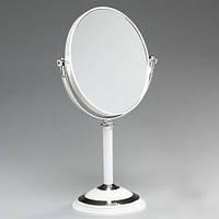 Зеркало настольное косметическое двустороннеее, высота 35 см.