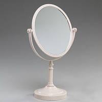 Зеркало настольное косметическое, высота 30 см.