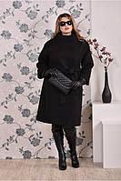 Женское модное демисезонное кашемировое пальто больших размеров (рр 42-74)