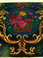 Килим шерстянний з квітами ручної роботи 185*245 см