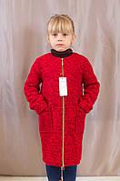 Практичное осеннее демисезонное детское пальто на девочку.