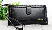 Черный женский кошелек из натуральной кожи Baellerry с ремешком