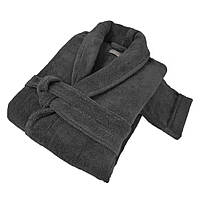 Махровый халат PERA HAMAM DARK GREY размер L серый
