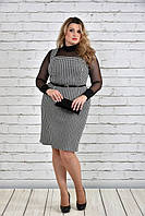 Стильное женское платье (+гольф-сетка) больших размеров (рр 42-74), разные цвета