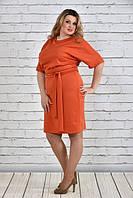 Модное повседневное женское платье больших размеров (рр 42-74), разные цвета