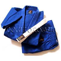 Кимоно для дзюдо плетёное синее 550 г/м2