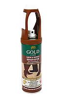 GOLD CARE Спрей фарба Восстановитель для замши и нубука 200мл. Коричневый