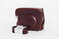 Защитный футляр - чехол для фотоаппаратов CANON G15, G16 - кофе