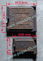 Двери печные чугунные (комплект №8)