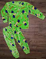 Детский теплая пижама махра.
