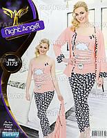 Женская домашняя одежда тройка из Турции Night Angel 3175-R. Размер 44-46.