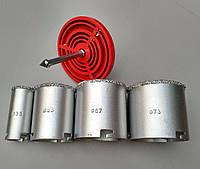 Набор кольцевых коронок с вольфрамовым напылением набор Ø 33 / Ø 53 / Ø 67 / Ø 73