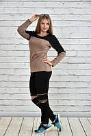 Стильные женские спортивные брюки (рр 42-74) с молниями