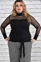 Женская стильная блуза-водолазка больших размеров (рр 42-74)