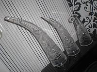 Рог из советского хрусталя НАБОР 3 ШТ СССР хрусталь
