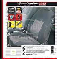 Накидка на сиденье с подогревом HEYNER Premium CarbonFiber ✓ 1шт. ✓  цвет: черный
