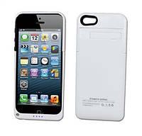 Увеличенная батарея-чехол для iphone 5-5S 2200mAh БЕЛАЯ SKU0000014