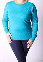 Женская кофта из кашемира голубого цвета 1140/4