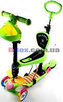 Самокат детский Scooter Утенок 5 in 1 сидушка корзинка родительская ручка плавающее колесо